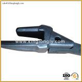 投げない大宇Doosanの掘削機の予備品のバケツの歯の鋼鉄鍛造材