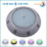 luz ligera subacuática de la piscina de la PC LED de 12V IP68 Nicheless para el concreto, fibra de vidrio, piscina del trazador de líneas de vinilo