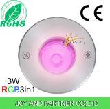 палуба 3W 24V Tricolor СИД подземная освещает (JP820216)
