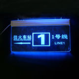 Signes acryliques de guide de DEL, étalage lumineux de signes de guide