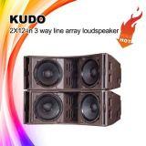 """A alta qualidade Kudo Dual 12 a """" linha altofalante da disposição, linha sistema da disposição"""