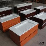 Тазик мытья шкафа конструкции белый твердый поверхностный для сбывания