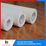Быстро крен бумаги переноса сублимации печатание высушите/быстро сухая передачи тепла Inkjet 50GSM высокоскоростной Jumbo для '' тканье 120