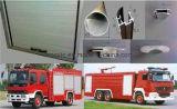 Le camion de lutte contre l'incendie aluminium rouleau vers le haut la porte