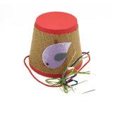 Seau fait sur commande de papier de cadre de Noël de seau de carton de cadeau de Noël avec le traitement