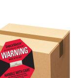 Étiquette d'avertissement de choc pourpré peu coûteux d'attention au choc