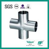 ステンレス鋼は4つの方法等しい十字の管付属品を溶接した
