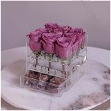 [9بكس] أكريليكيّ عرس زهرة صندوق مع ساحب