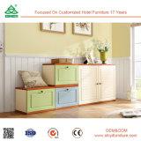 現代木の靴のキャビネットの小さい木のキャビネットの安い卸し売り家具はシートが付いているキャビネットに蹄鉄を打つ