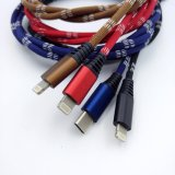 кабель USB заряжателя вспомогательного оборудования мобильного телефона 1-Meter-Long/Sync для iPhone