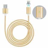 Câble magnétique tressé de chargeur de la foudre USB pour l'iPhone Samsung d'Apple