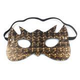 カップルの小道具の良質の大人の性マスクのための青銅色の革目マスクの性のおもちゃ