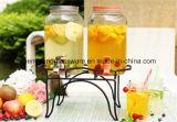 Стеклянный опарник сока распределителя напитка с пластичным Spigot