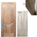 Pelle del portello del compensato modellata impiallacciatura di legno scura naturale della noce