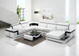 Sofá em forma de u funcional do couro do modelo G8020 novo