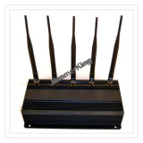 Isolante fisso/Jammer/Blocker del segnale delle 5 fasce; 50 tester di GSM, 3G, 4G, GPS Signal Jammer, Adustable 5 Antenna Mobile Phone Signal Isolator