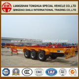 Ctsm 3-Axles 48FT Container Yellow Skeleton Semi-remorque Chssis