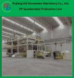 Linha de produção não tecida de Spunbond, tela não tecida que faz a máquina de pano, máquina não tecida de pano
