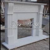 Camino bianco Mfp-644 di Carrara del camino di pietra di marmo del granito
