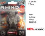 Rinoceros 8 3D Extreme Mannelijke Seksuele Versterker van Prestaties 8000
