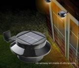3つのLED太陽屋外ライト塀のパスの庭ランプ