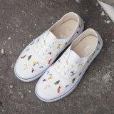 Kundenspezifische authentische vulkanisieren beiläufige Schuh-Unisexsegeltuch-Form-Turnschuh
