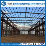 熱い電流を通された鉄骨構造プレハブフレームの倉庫