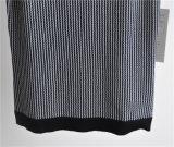 女性純粋なカラーしまのある袖なしのセーター