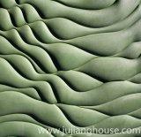 Fachada exterior do edifício verde para a pedra cultivada