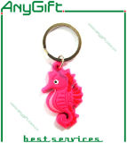 3D 1 Side Design를 가진 코끼리 Shaped Soft PVC Keyring