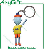 Elefant Shaped Soft PVC Keyring mit 3D 1 Side Design