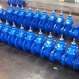 Soupape à vanne posée résiliente non en hausse malléable normale de cheminée de fer DIN (DN40 à DN1200)