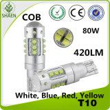고성능 80W 차 LED 점화 (T10 BA9S T15)