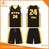 Healongデジタルによって印刷されるパターン卸売のバスケットボールジャージー