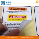 Autoadesivo su ordinazione dell'etichetta avvertimento/di avvertenza sull'autoadesivo impaccante del contrassegno di obbligazione della scatola