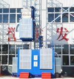 Alzamiento del edificio de la construcción del pasajero Sc200/200 y del material con el estante y el piñón