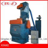 Machine de grenaillage de piste de machine de Tumblast/courroie en caoutchouc de chenille