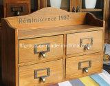 Cadre de mémoire en bois respectueux de l'environnement portatif de luxe personnalisé de fini antique