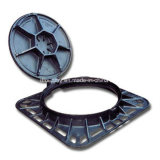 Type articulado Ductile Cast Iron Manhole Covers com Anti-Corrosive Coating