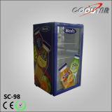 Transparente Glastür-eingebauter Flaschen-Kühler (SC98)