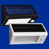 太陽高い発電の屋外の動きセンサーの安全LED壁ライト