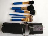 Sistema de cepillo cosmético del pelo 6PCS de la cabra con el caso del maquillaje del cilindro
