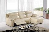 Il sofà del salone con il sofà moderno del cuoio genuino ha impostato (729)