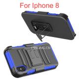 Caixas do telefone de pilha do grampo de Blet do Holster para o caso do iPhone 8