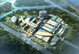 Visualización arquitectónica del plan 3D de la ciudad