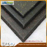 De professionele Tegels van de Vloer van de Gymnastiek Zwarte Rubber, Indoor Rubber Tegel