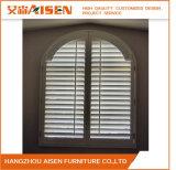 Manual de tilo ventana interior persianas de madera para la decoración de casas