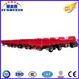 Китая фабрики 40feet 3 Axle трейлер груза тележки трактора Semi общего назначения с стороной падения для сбывания