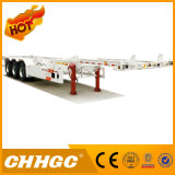 Chhgc 3axle hintere Plattform-Skeleton Behälter-halb Schlussteil