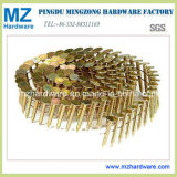 Smooth Shank를 가진 노란 Zinc Coated Coil Roofing Nail